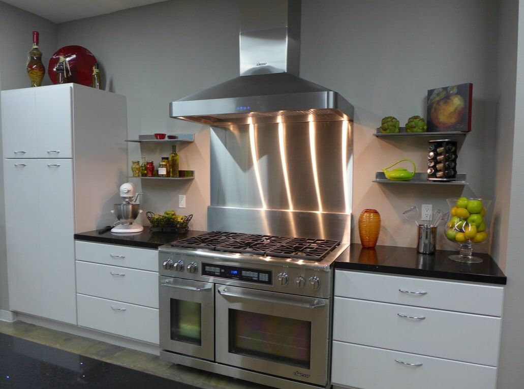 showroom kitchen at high-end appliance brand Dacor LA location